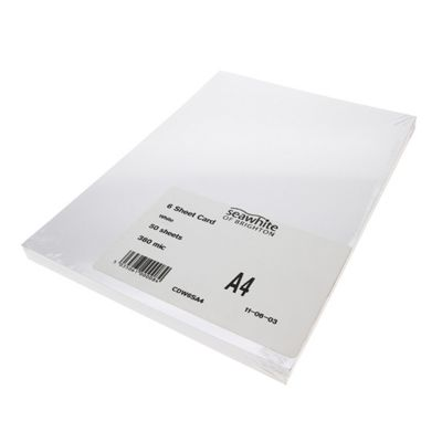 A4 300gsm White Card Pack