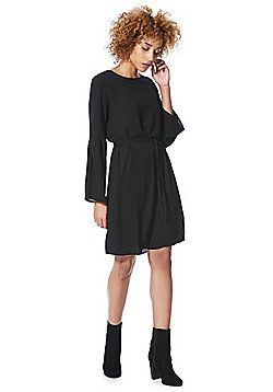 Vero Moda Crepe Bell Sleeve Dress - Black