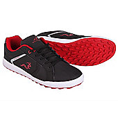 Woodworm Surge V2.0 Casual Spikeless Street Golf Shoes - Black & Red
