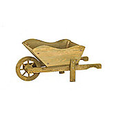 Smart Garden Rustic Woodland Wheelbarrow Planter Tan