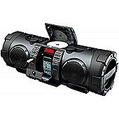 Portable CD Boomblaster with Lightning Dock & Bluetooth - Black