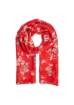 F&F Ditsy Floral Scarf - Red