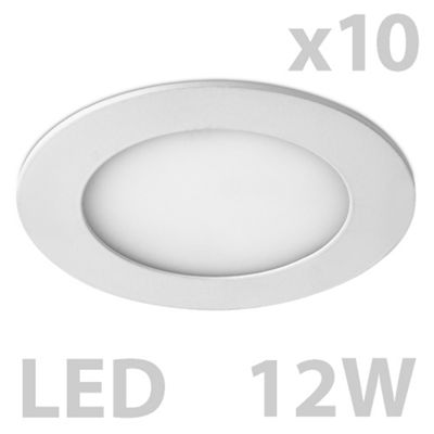 Pack of 10 MiniSun Cobra Round 12W LED Downlights, Cool White