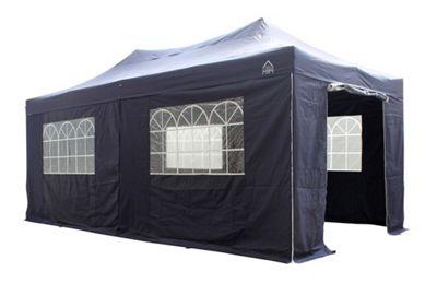 All Seasons Gazebos, Heavy Duty, Fully Waterproof, 3m x 6m Superior Pop up Gazebo Package in Navy Blue