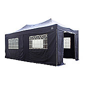 All Seasons Gazebos, Heavy Duty, Fully Waterproof, 3m x 6m Superior Pop up Gazebo Package in Navy Blue