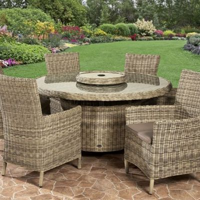 MODENA CARVER 5PC DINING SET - TABLE WITH FOUR CARVER DINING CHAIRS