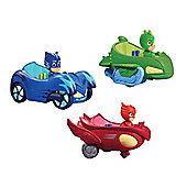 Pj Masks Vehicle Bundle - Owl Glider, Gekko Mobile & Cat Car - 3 Items