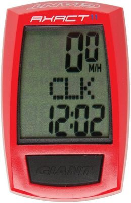 Giant Axact 11 Function LCD Waterproof Bike Computer Red