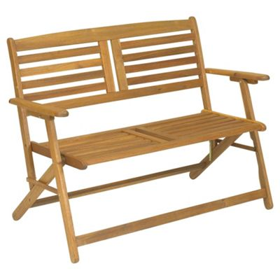 Awesome Atlantic 2 Seater Folding Garden Bench