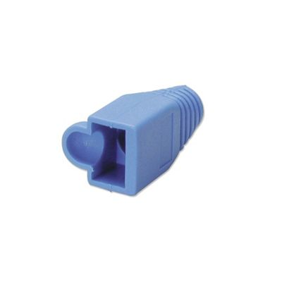 LINDY Pre-assembly RJ-45 Strain Relief Boot Blue (10 per pack)