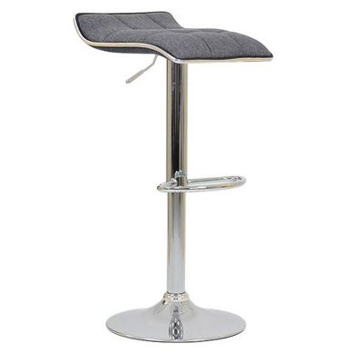 Rasmus Charcoal Fabric Bar Stool