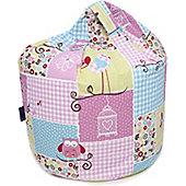 Owl Patchwork Bean Bag