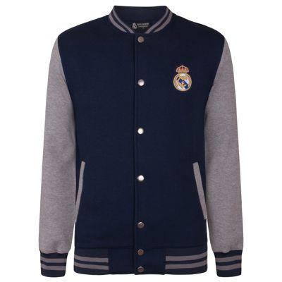 Real Madrid Boys Varsity Jacket Navy 6 Years