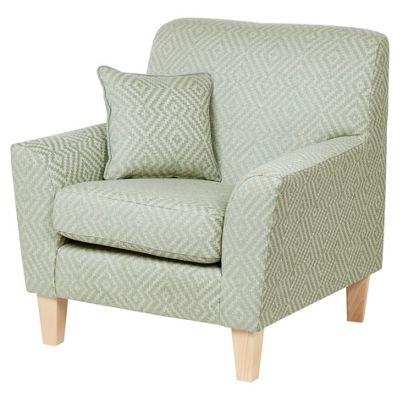 Bargello Accent Chair, Duck Egg