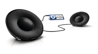 Philips Portable Passive Speakers for iPod, iPhone & MP3 Players - Black