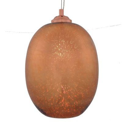 Copper 3D Egg Shape Electrified Pendant