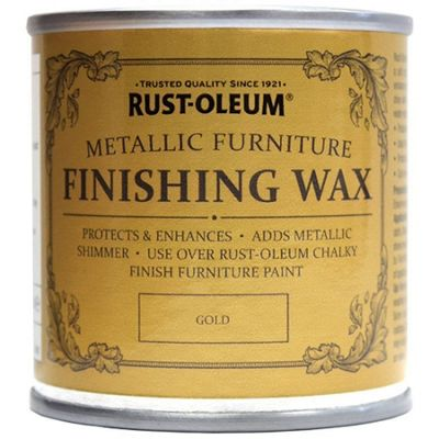 Rust-Oleum Chalk Chalky Furniture Paint - Finishing Wax - Gold 125ml