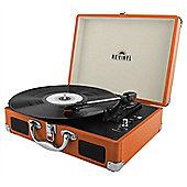 Revinyl Briefcase Bluetooth Vinyl Record Player - Orange