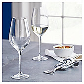 Fox & Ivy Crystal Glass Pack of 4 White Wine Glasses
