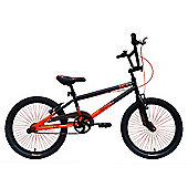"Tiger UCX2 20"" Alloy Wheel 10"" Hi-Ten Frame BMX Bike Black/Orange"