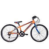 """Tiger Warrior 24"""" Wheel Junior Mountain Bike Orange Blue"""