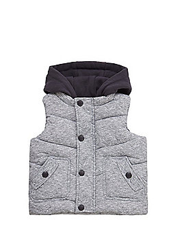 F&F Hooded Padded Gilet - Blue