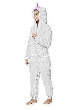 F&F Unicorn Fleece Onesie - Grey