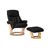 Sofa Collection Canneto Swivel Chair With Massage And Heat Function And Footstool - Black