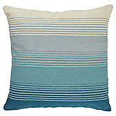 Tesco Embroidered Stripe Teal Cushion