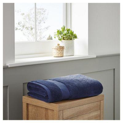Fox & Ivy Egyptian Cotton Navy Bath Towel