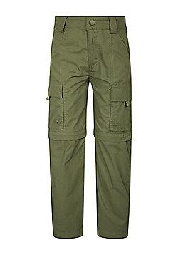 Mountain Warehouse Kids Zip-off Trousers Cotton/Polyester Fabric Blend - Khaki