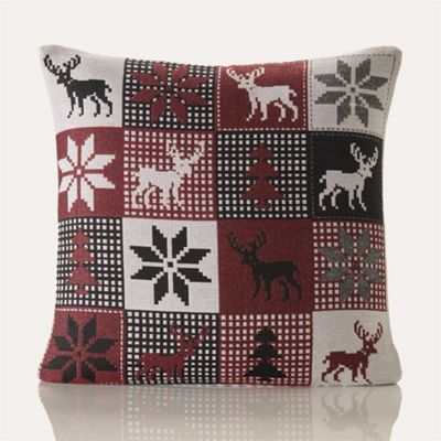 Festive Home Lapland Christmas Cushion Cover - 18x18 Inches (46x46cm)