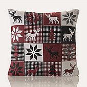 Festive Home Lapland Christmas Cushion Cover - 18x18 Inches (46x46cm)