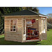 3.6m x 3.6m Log Cabin With Double Doors - 28mm Wall Thickness