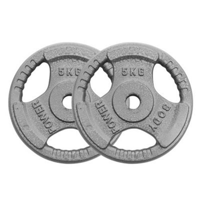 Body Power Standard (1 Inch) Tri Grip Discs - 5Kg (x2)