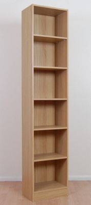 Kit Form Budget Tall Narrow Bookcase - Oak