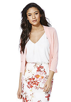F&F Open Front Cropped Cardigan - Pink