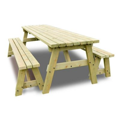 Oakham picnic table and bench set - 5ft