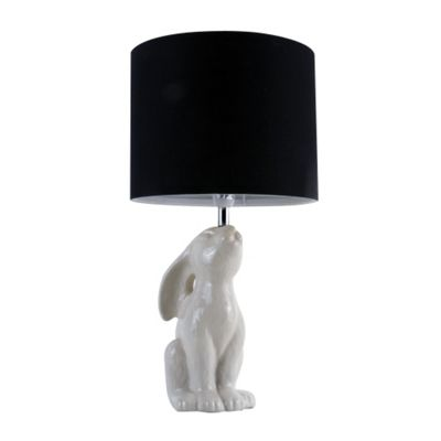 Buck Rabbit Table Lamp, Gloss Cream & Black