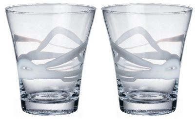 Bormioli Rocco Ceralacca Tumblers Glasses - 385ml - 13oz - White - Set of 2