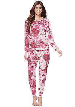 F&F Rose Print Jersey Twosie - Pink