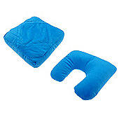 Globetrek 3 in 1 Travel Pillow, Blue