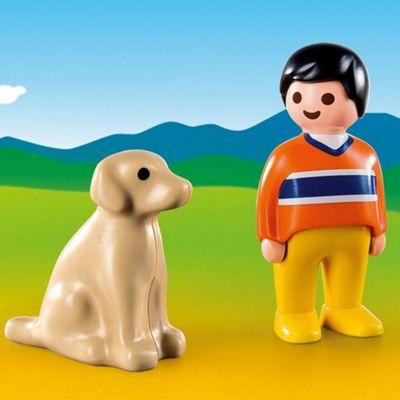 Playmobil 1.2.3 Man with Dog
