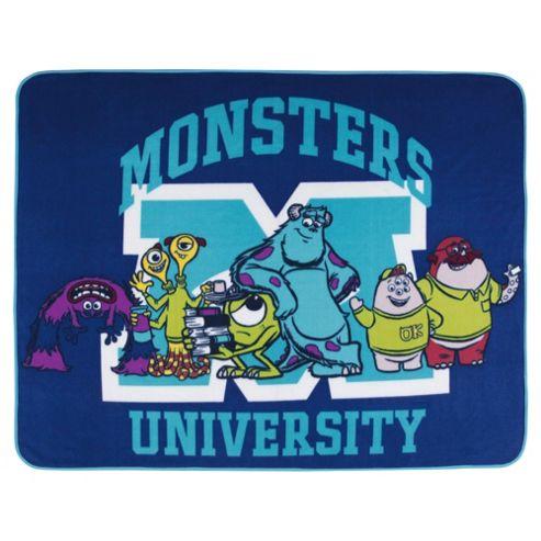 Pixar Monsters University Fleece Blanket