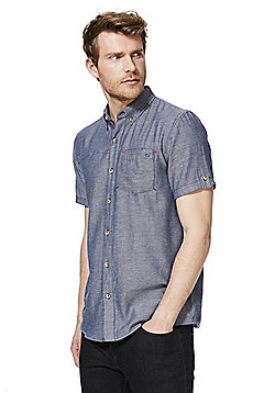 Regatta Damaro Coolweave Short Sleeve Shirt - Navy