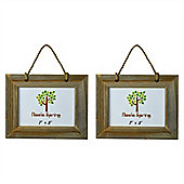 "Nicola Spring Wooden Hanging Photo Picture Frame - 7 x 5"" - Pack Of 2"