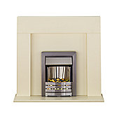 Adam Miami All Ivory Electric Fireplace Suite