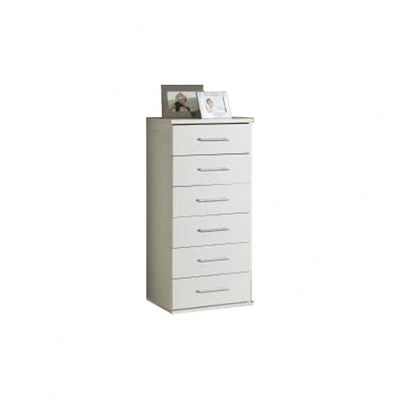 Amos Mann furniture Venice Narrow Chest of Drawers - White