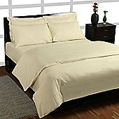 Homescapes Cream Egyptian Cotton Single Duvet Cover with One Pillowcase, 200 TC