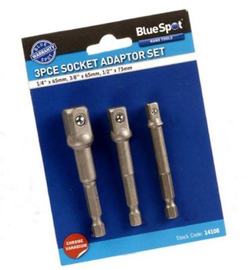 Blue Spot 14108 Socket Adaptor Set (3 Pieces)
